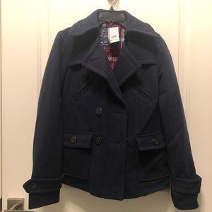 American Eagle Navy Blue Wool Peacoat XS